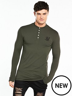 sik-silk-muscle-fit-grandad-tshirt