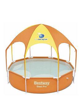 bestway-8ft-splash-amp-shade-play-pool