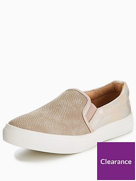wallis-wallis-buzzword-metallic-mix-material-slip-on-trainer