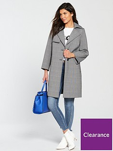v-by-very-bonded-check-trench-coat