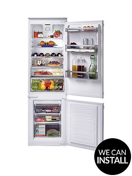 hoover-bhbf172nuknbsp177cm-high-54cm-wide-one-touch-integrated-frost-free-fridge-freezer-with-optional-installationnbsp--white