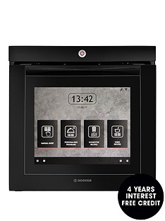 hoover-vision-wi-fi-built-in-touch-screen-electric-single-oven-black-glass