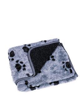 petface-sherpa-printed-fleece-comforter-greyblack-70x100cm