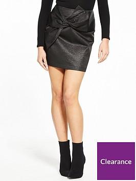 v-by-very-metallic-bow-mini-skirt