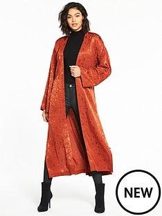 v-by-very-star-jacquard-kimono-rust