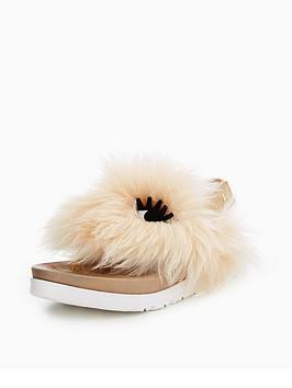 ugg-girls-sheepskinnbsppunki-sandal-natural-soft-ochre