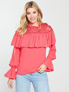 v-by-very-lace-yoke-tiered-top