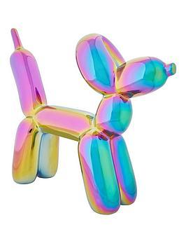 petrol-metallic-balloon-dog
