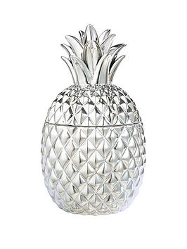 ceramic-metallic-pineapple-pot-ndash-silver