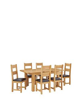 oakland-140--nbsp180-cm-solid-wood-extending-dining-table-6-oakland-chairs