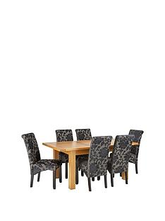 oakland-140nbsp-nbsp180-cm-solid-wood-extending-dining-table-6-oxford-chairs