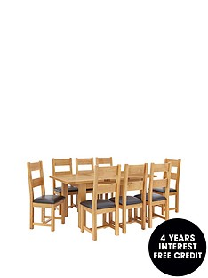 oakland-140-180-cm-solid-wood-extending-dining-table-8-oakland-chairs