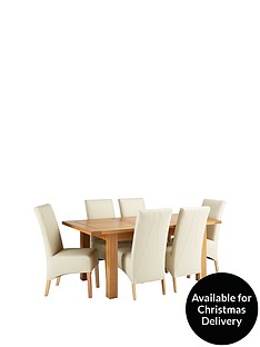 oakland-140-180-cm-solid-wood-extending-dining-table-6-eternity-chairs
