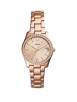 fossil-scarlette-rose-gold-plated-stone-set-bezel-ladies-watch