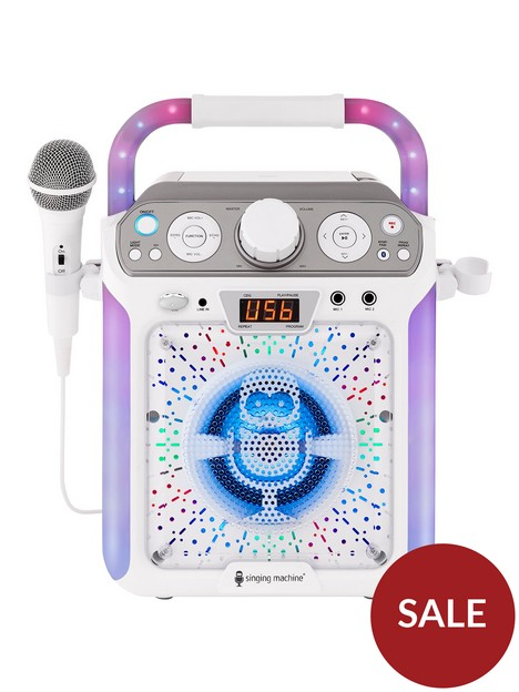 the-singing-machine-sml682btw-bluetooth-cdg-tablet-karaoke-machine-white