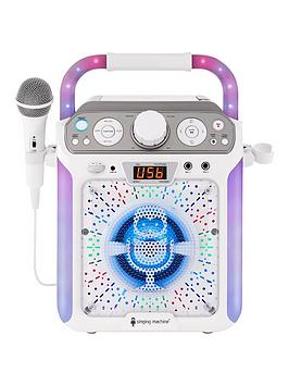 the-singing-machine-sml682btw-bluetooth-cdg-tablet-karaoke-machine-white