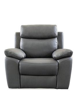 Very Edison Luxury Faux Leather Manual Recliner Armchair Picture