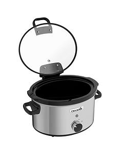 crock-pot-csc044-35-litre-hinged-lid-slow-cooker-stainless-steel