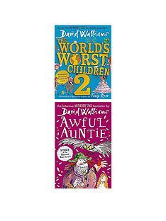 david-walliams-2-book-bundle-the-worlds-worst-children-2-amp-awful-auntie
