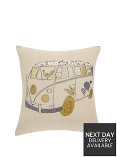 hamilton-mcbride-camper-van-embroidered-cushion