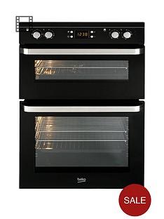 beko-odf21300b-60cm-built-in-electric-fan-double-oven-black