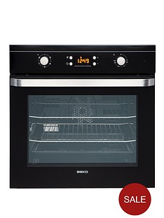 beko-oif21300b-60cm-electric-built-in-single-fan-oven-black