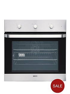 beko-oif22100x-60cm-single-electric-built-in-fan-oven-stainless-steel