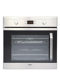 beko-oif22301xl-60cm-single-built-in-electric-fan-oven-stainless-steel
