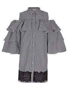 river-island-girls-navy-stripe-frill-sleeve-shirt-dress