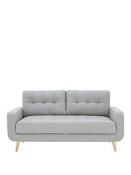 Very Skandi 3 Seater Fabric Sofa