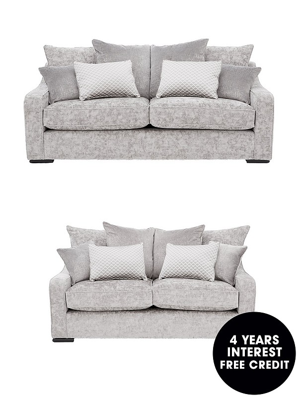 Magnificent Mirage 3 Seater 2 Seater Fabric Sofa Set Buy And Save Machost Co Dining Chair Design Ideas Machostcouk