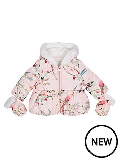 baker-by-ted-baker-baby-girls039-pink-padded-coat-and-mittens