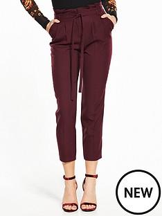 miss-selfridge-paper-bag-trouser-burgundy