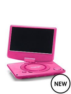 nextbase-voyager-9-inch-pink-portable-dvd-player-clamshell-design