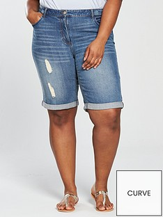 v-by-very-curve-distressed-boyfriend-short-light-wash