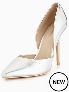 glamorous-cut-out-court-shoe-silvernbsp
