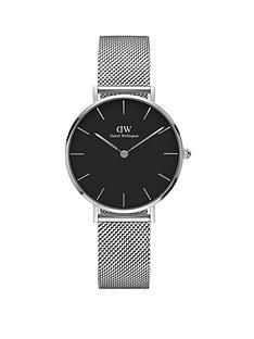 daniel-wellington-daniel-wellington-petite-sterling-silver-black-face-32mm-case-silver-mesh-strap-ladies-watch
