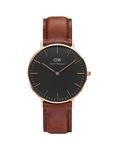 daniel-wellington-black-st-mawesnbsprose-gold-36mmnbspcase-brown-leather-strap-unisex-watch