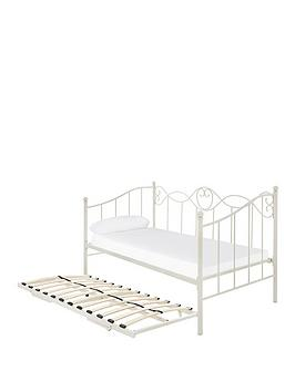 Very Juliette Metal Day Bed And Trundle Bed With Mattress Options (Buy And  ... Picture