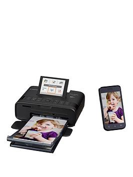 Canon   Selphy Cp1300 Compact Wifi Photo Printer Black With Ink And 36 X Paper - Photo Printer With Rp-36Ip Ink And 36 X Paper