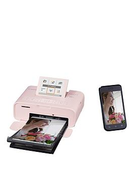 Canon   Selphy Cp1300 Compact Wifi Photo Printer Pink With Ink And 108 X Paper - Photo Printer With Rp-108 Ink And 108 X Paper