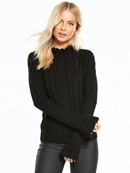 v-by-very-frill-turtleneck-cable-jumper
