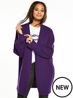 v-by-very-turn-back-cuff-cardigan-purple