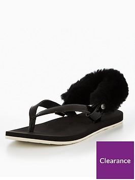 ugg-laalaanbspslingback-flat-sandal-black