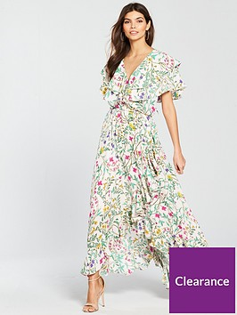 v-by-very-frill-lace-up-maxi-dress