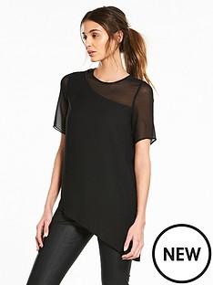 river-island-asymmetric-tshirt--black