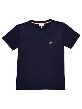 Lacoste Lacoste Classic Boys Short Sleeve T-Shirt - Navy Blue Picture