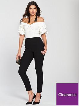 v-by-very-bardot-sleeve-detail-jumpsuit-monochrome