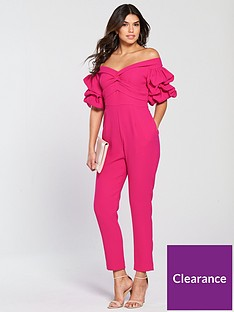 a4ff4021b0 V by Very Bardot Sleeve Detail Jumpsuit