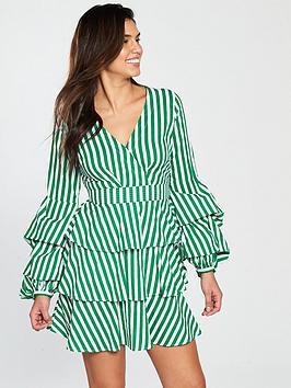 Very Stripe Tiered Shirt Dress, / Women